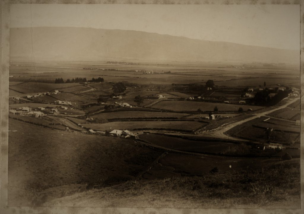 Birds eye view of Allanton 1908. Otago Witness 14 Oct 1908