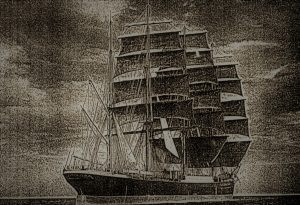 """The ship """"Palmerston"""" that brought out the largest contingent of Poles to Otago in 1872."""